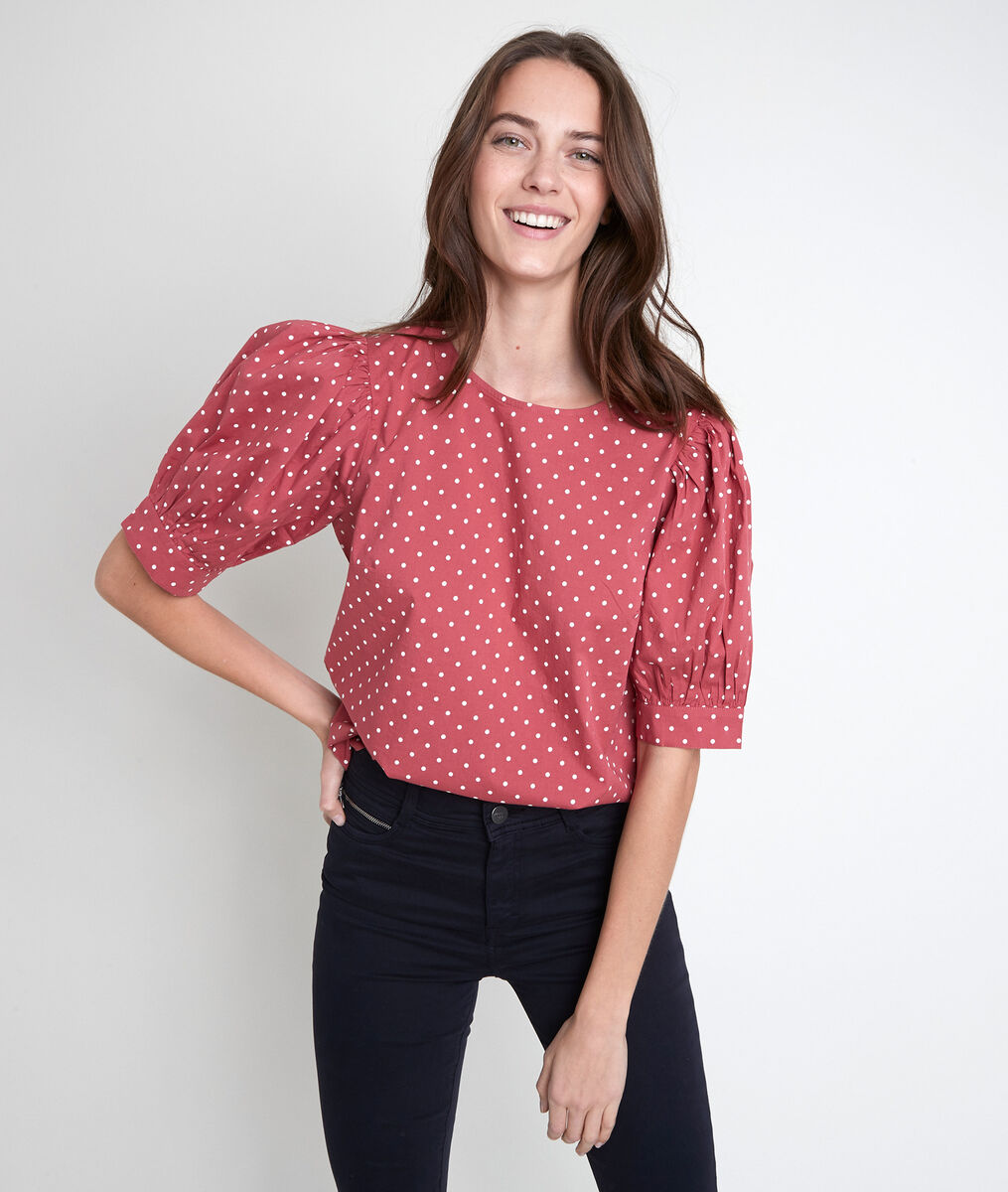 Enora pink polka dot top PhotoZ | 1-2-3