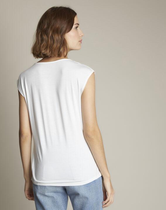 Neptune V-neck beige blouse (4) - Maison 123