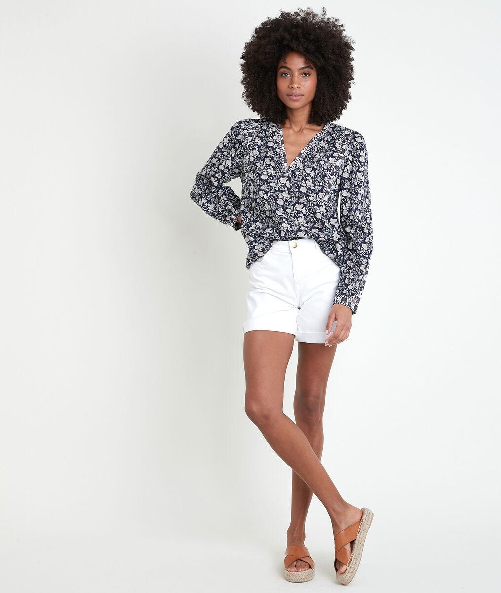 Tippi navy floral print blouse PhotoZ   1-2-3