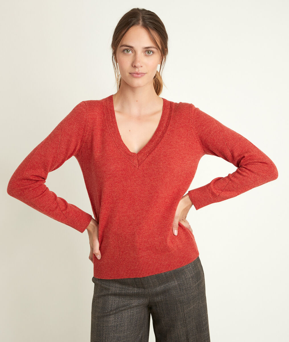 Rozane guava wool and cashmere pullover PhotoZ | 1-2-3