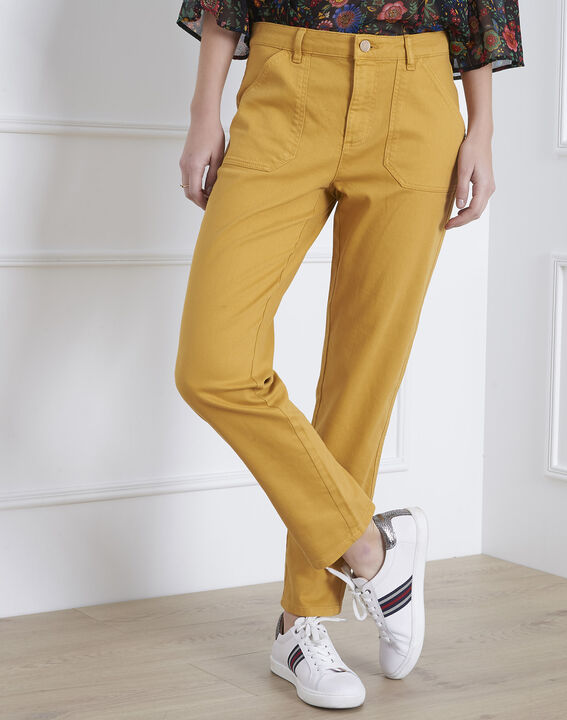 Coconut yellow 7/8 length boyfriend jeans PhotoZ | 1-2-3