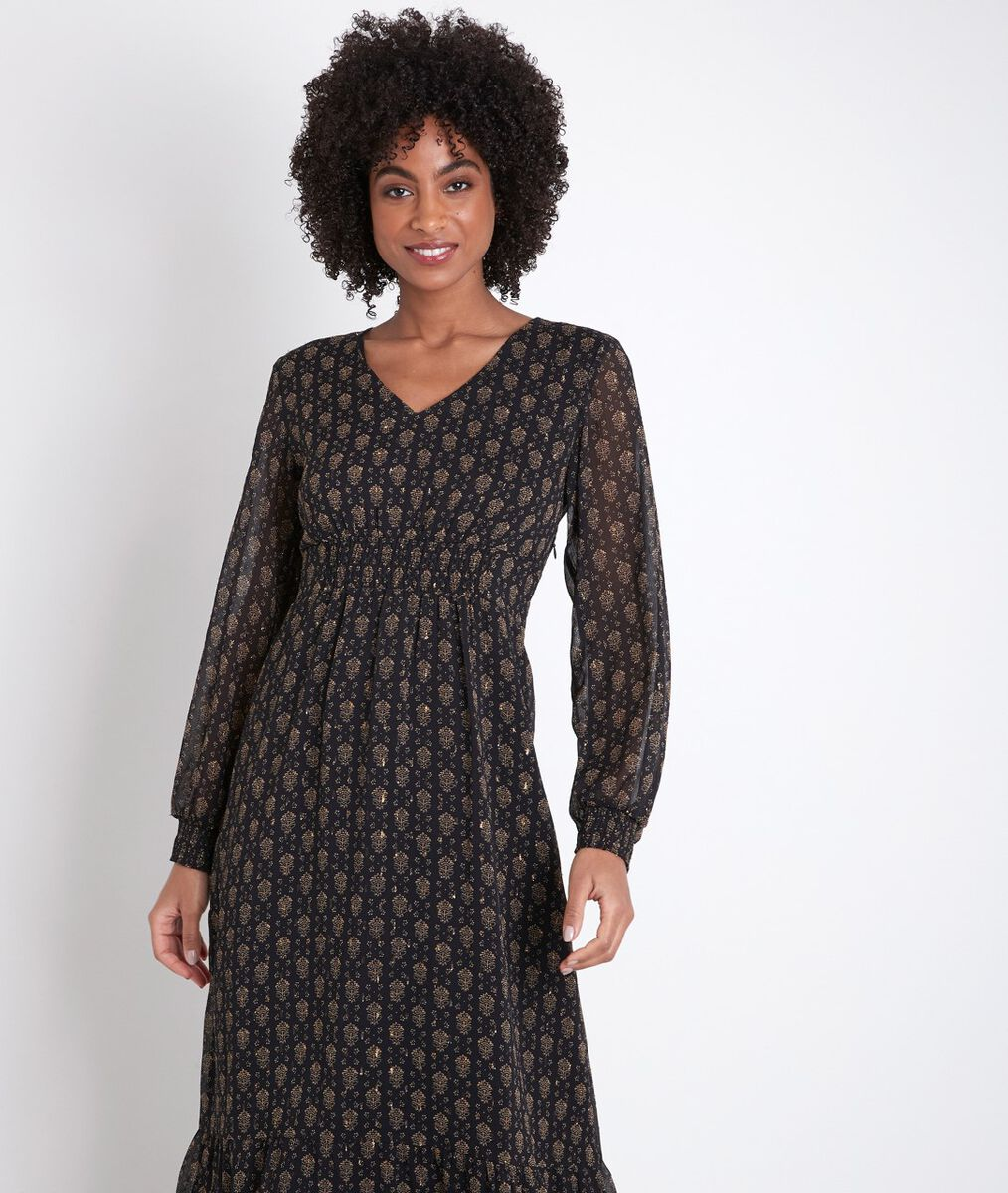 Ninon printed midi dress PhotoZ | 1-2-3