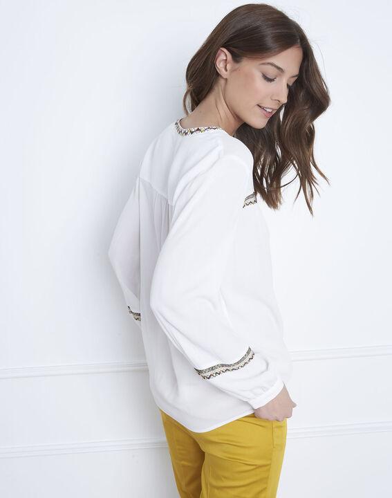 Violette ethnic embroidered beige blouse (4) - Maison 123