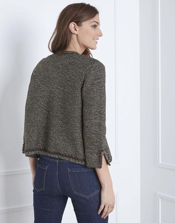 Amour khaki decorative knit cardigan (4) - Maison 123