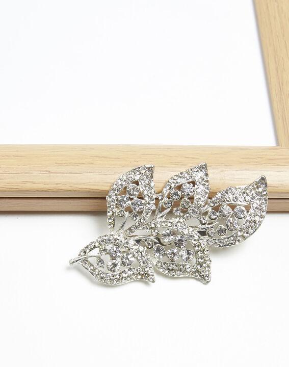 Xelia silver plated leaf brooch (1) - Maison 123