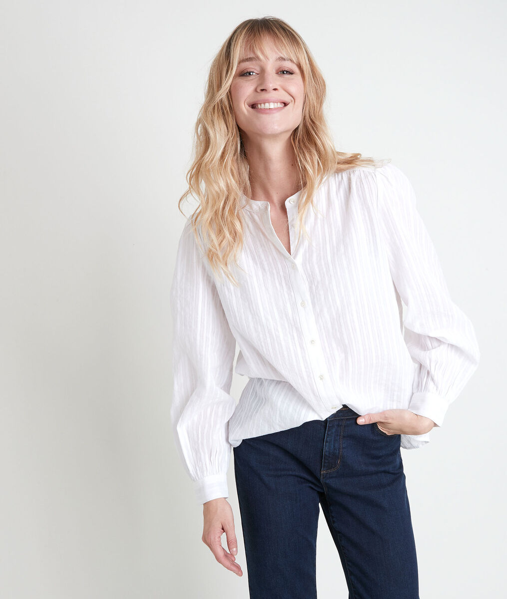 Tunia ecru lurex blouse PhotoZ   1-2-3