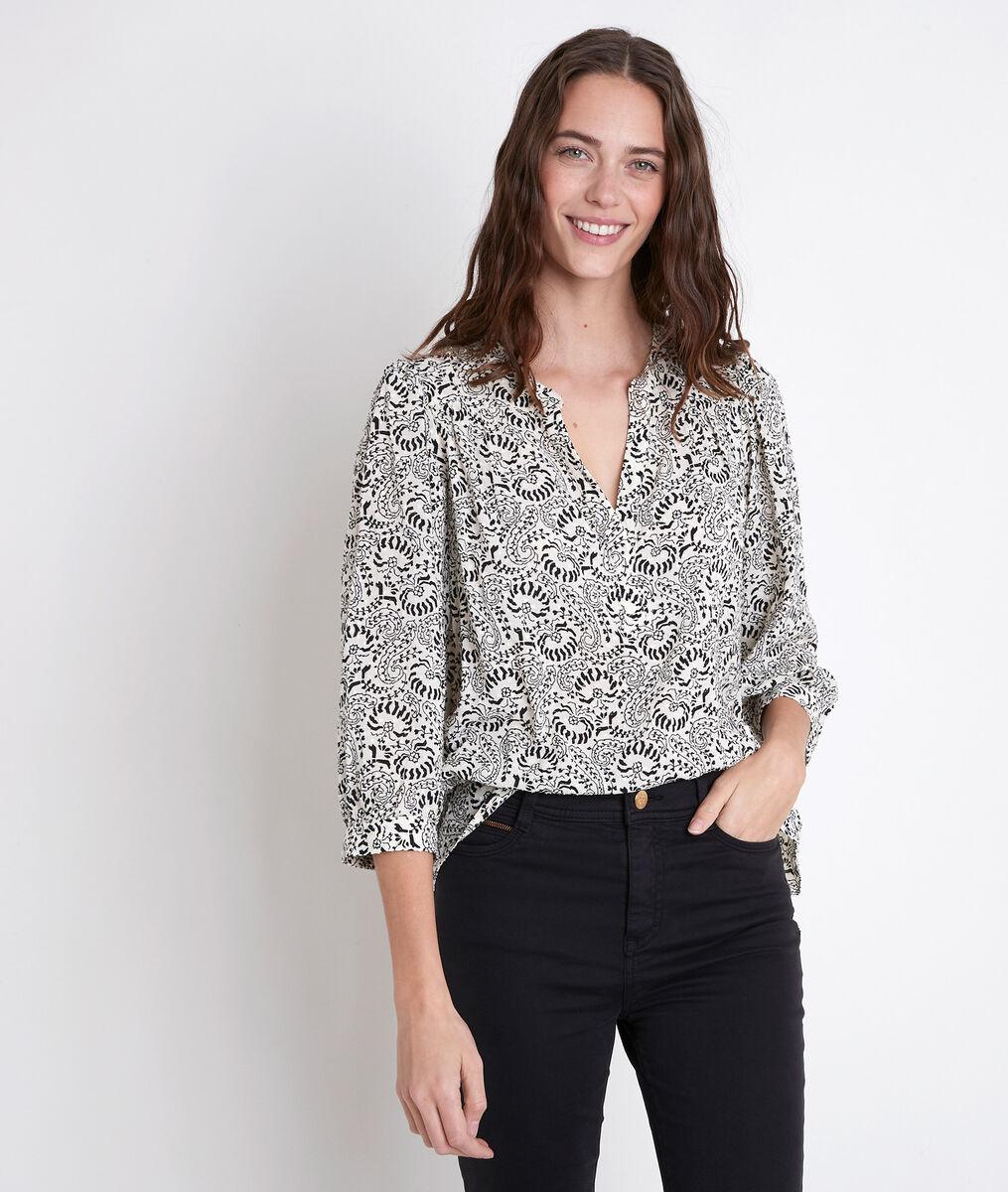 ELSA ecru floral print blouse PhotoZ | 1-2-3