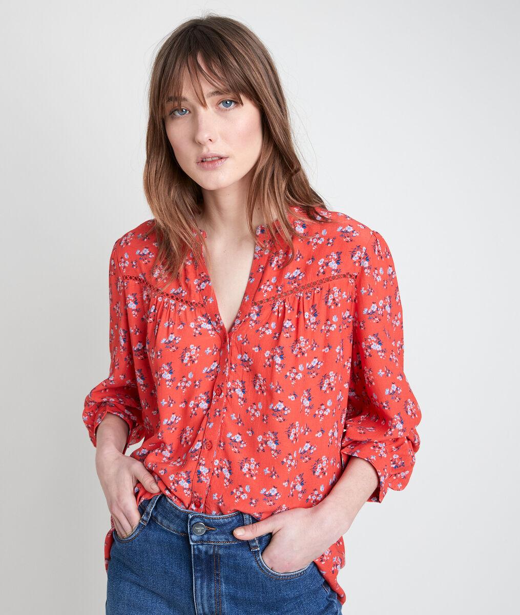 TERESA pink printed blouse PhotoZ | 1-2-3