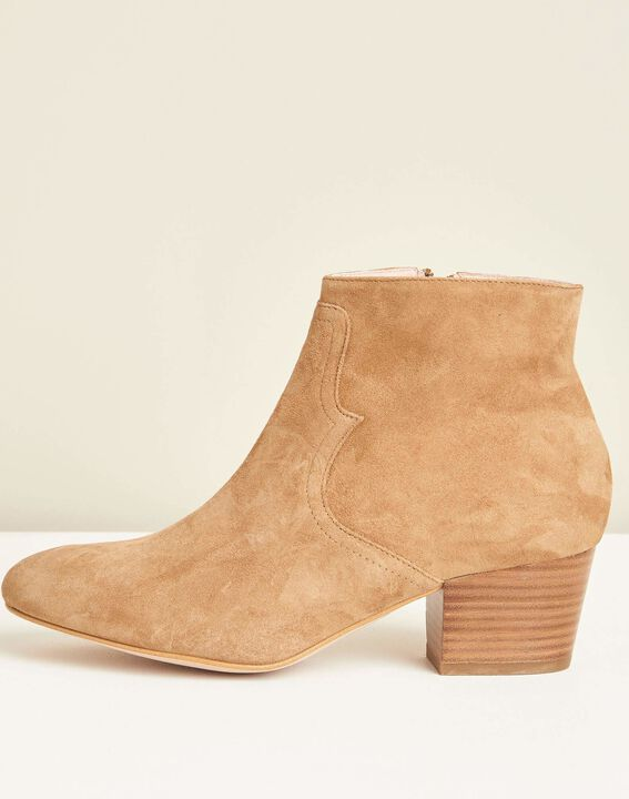 Kendal dual-fabric camel heeled boots PhotoZ | 1-2-3