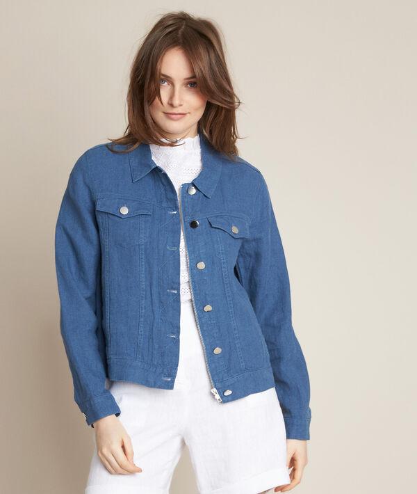 Clem indigo linen jacket PhotoZ | 1-2-3