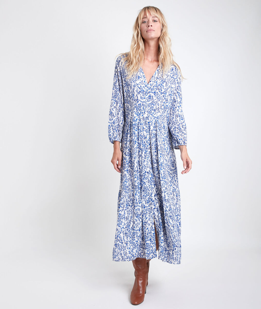 Carola Printed Maxi Dress PhotoZ | 1-2-3