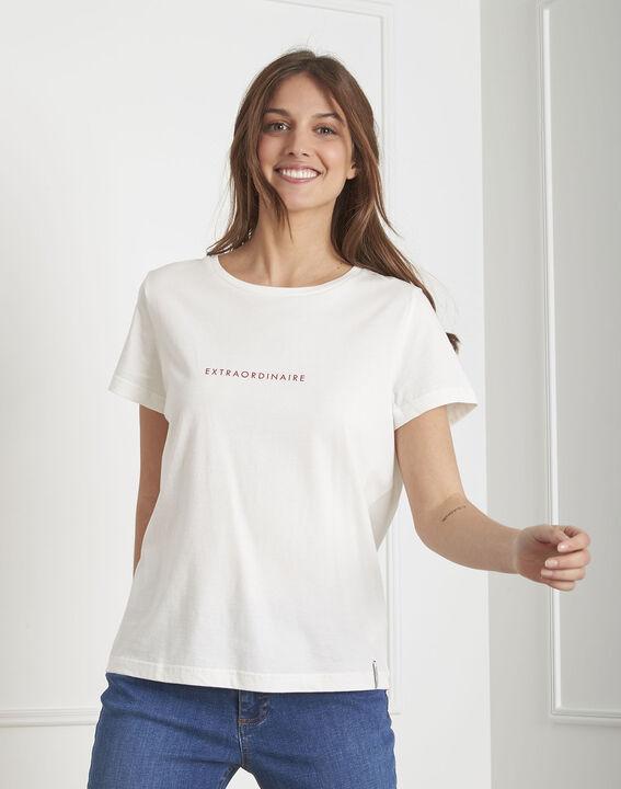 Pextra ecru organic cotton T-shirt PhotoZ | 1-2-3