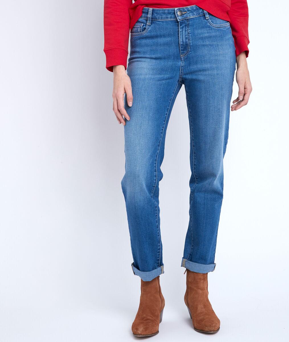 Cachou stone-wash used boyfriend jeans PhotoZ | 1-2-3