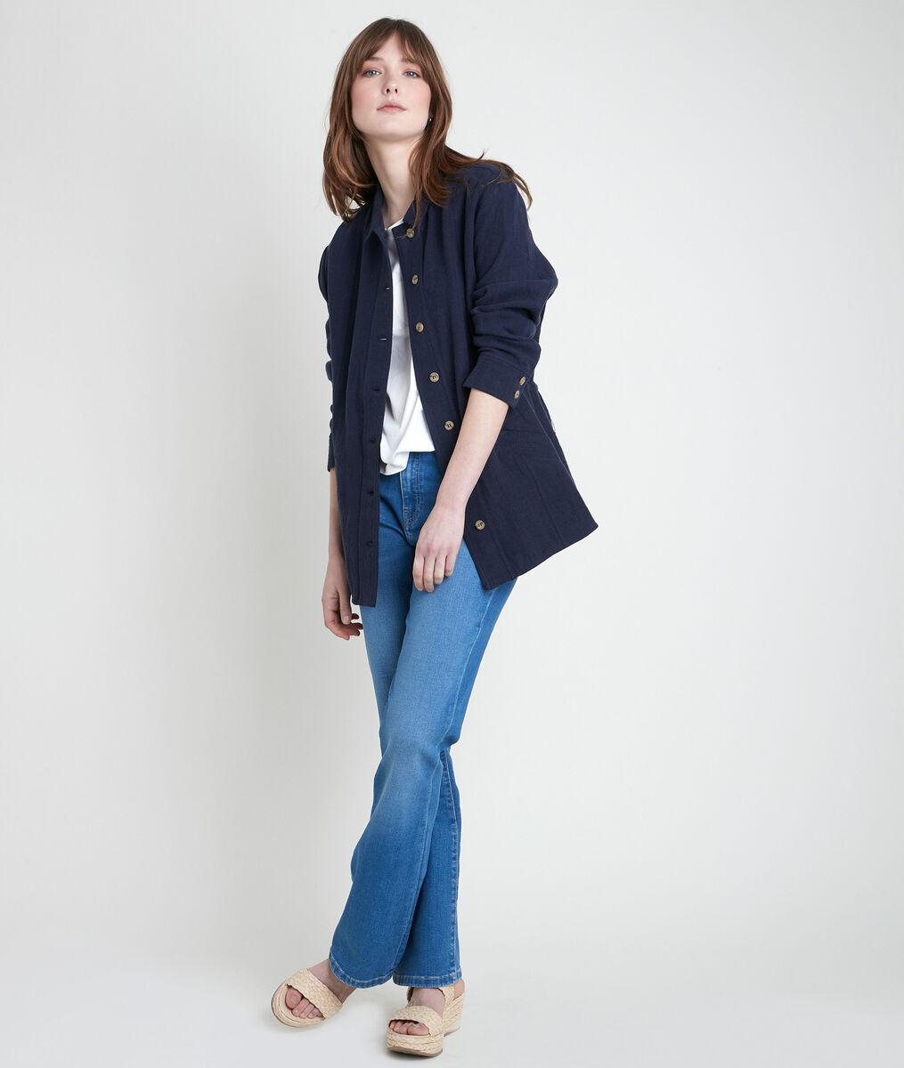 PAOLITA navy linen jacket PhotoZ | 1-2-3