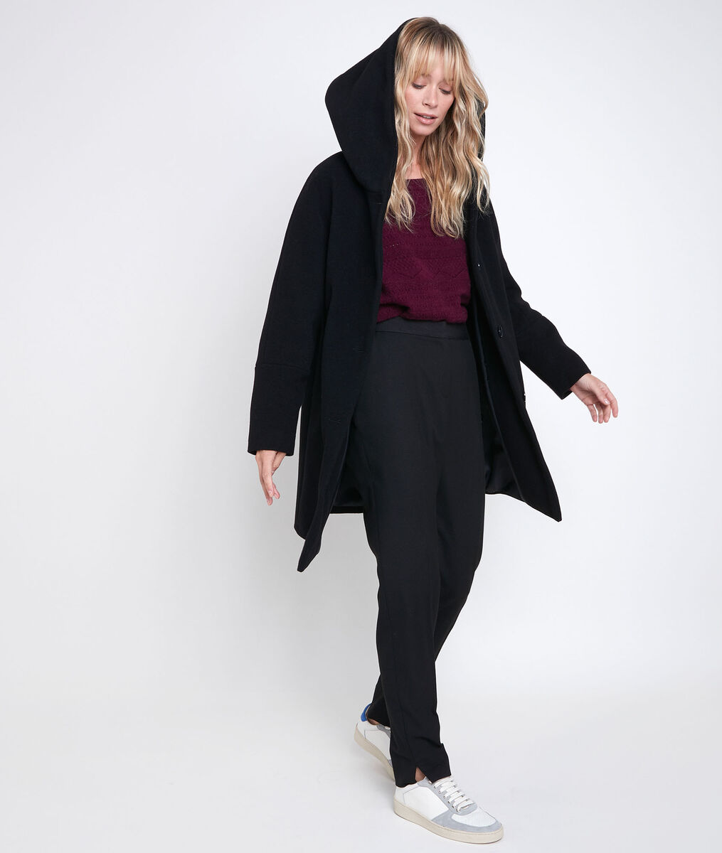 Ocea black wool blend coat PhotoZ | 1-2-3