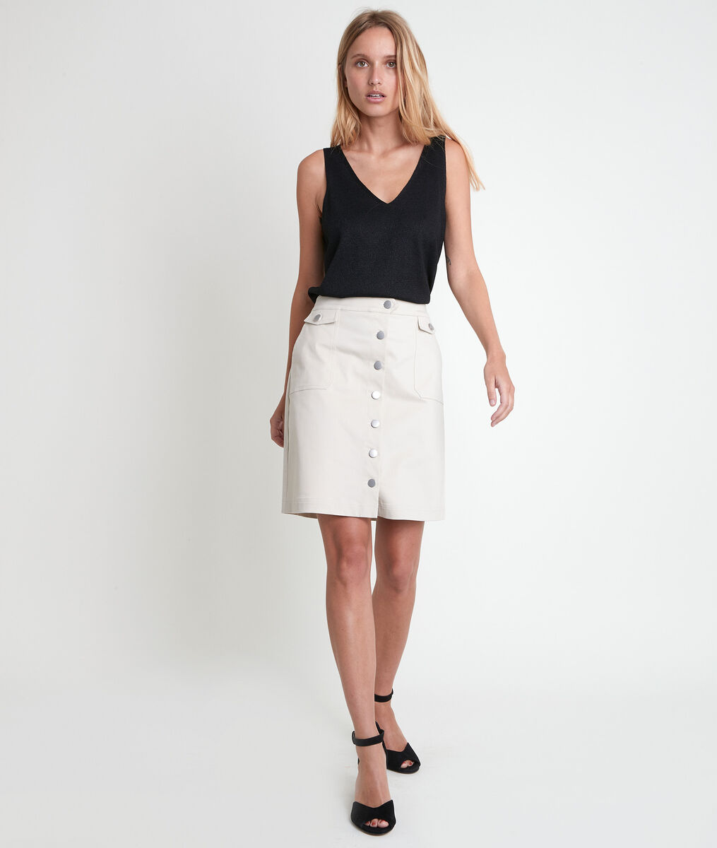 Ambra beige buttoned skirt PhotoZ | 1-2-3