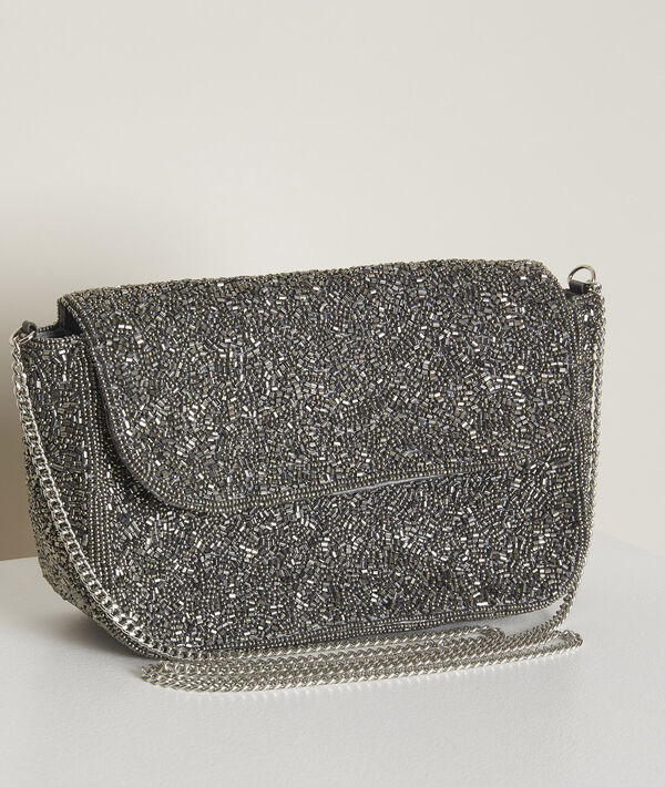 Hanae silvery embroidered clutch PhotoZ   1-2-3