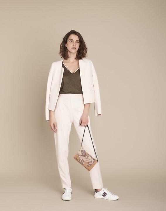 Lara powder-coloured cigarette trousers (2) - Maison 123