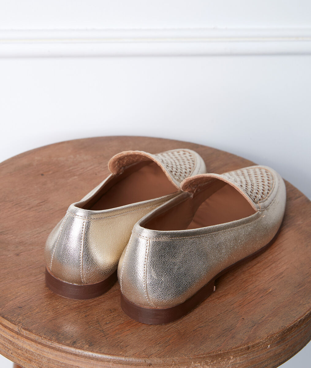 Gladys gold-coloured loafers PhotoZ | 1-2-3