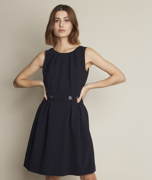 Camille navy corolla dress PhotoZ | 1-2-3