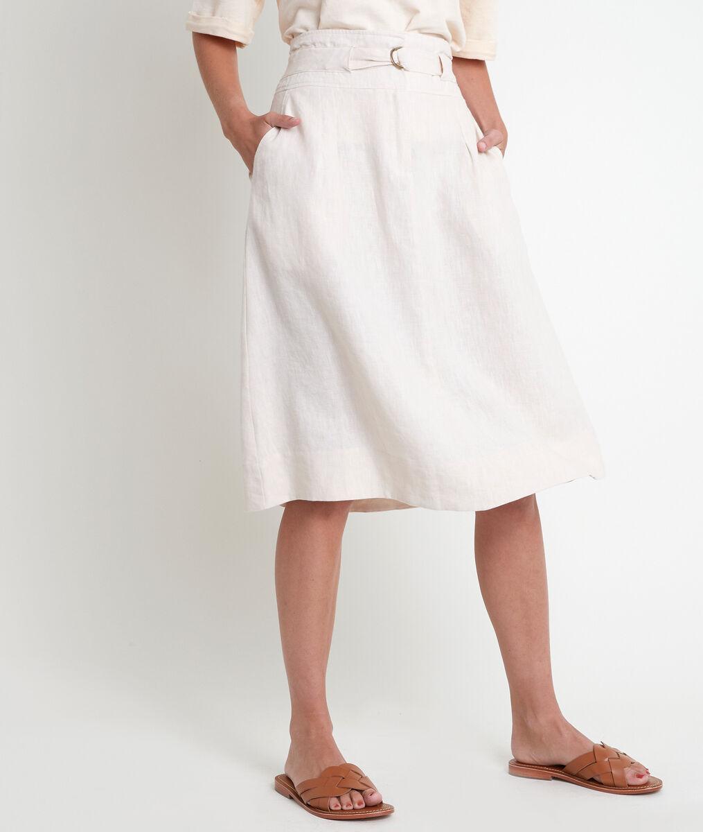 Elisa certified linen midi skirt PhotoZ | 1-2-3
