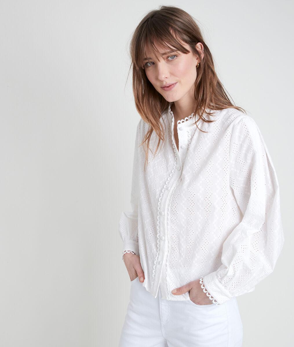 TIFFANY embroidered ecru blouse PhotoZ | 1-2-3