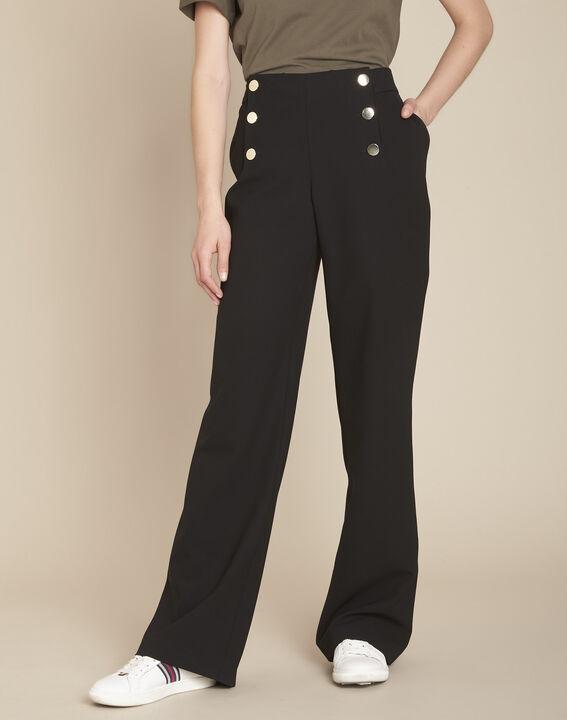 Hubert black microfibre sailor trousers PhotoZ | 1-2-3