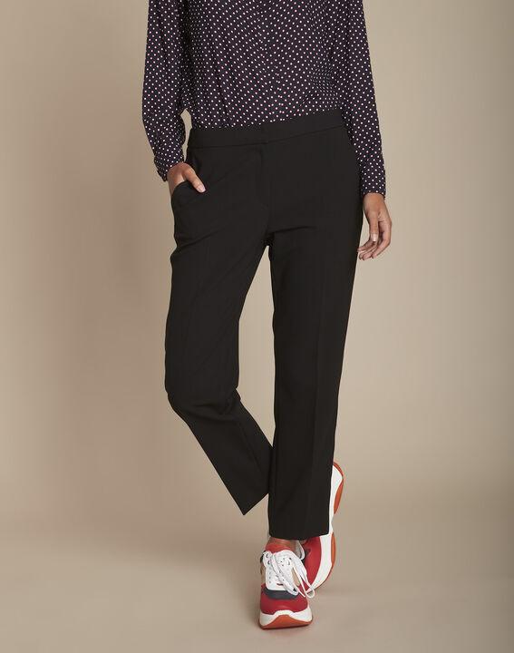 Suzanne black microfibre cigarette trousers PhotoZ | 1-2-3