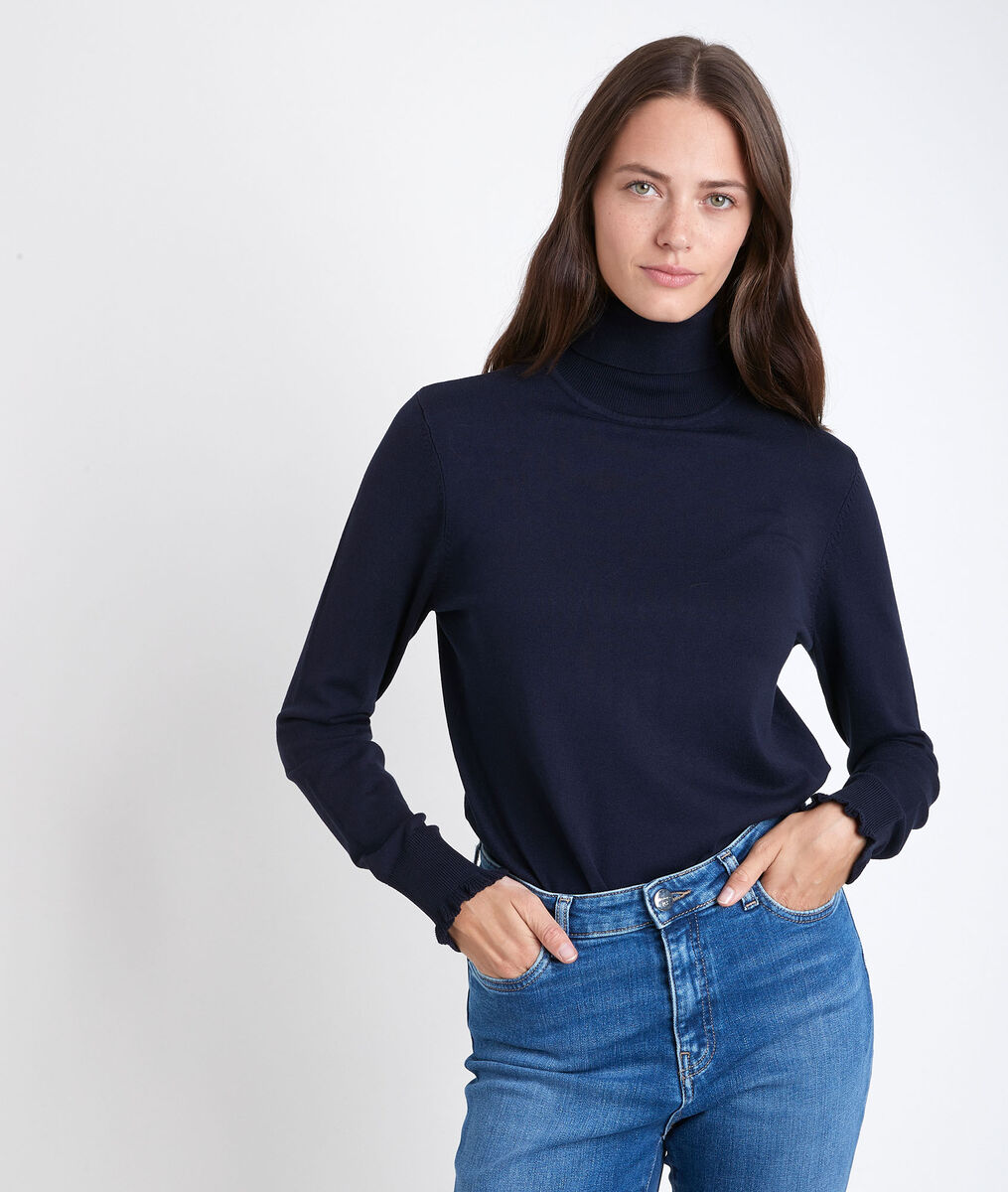 Rayda navy turtle-neck pullover PhotoZ | 1-2-3