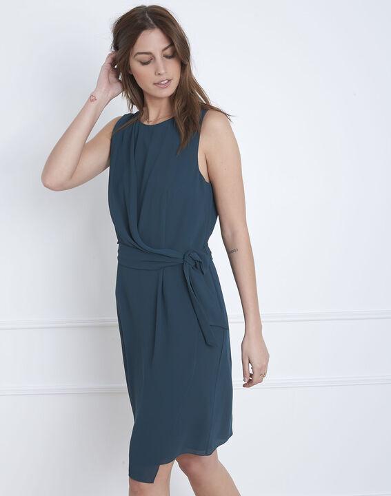 Harpe dark green draped dress (1) - Maison 123
