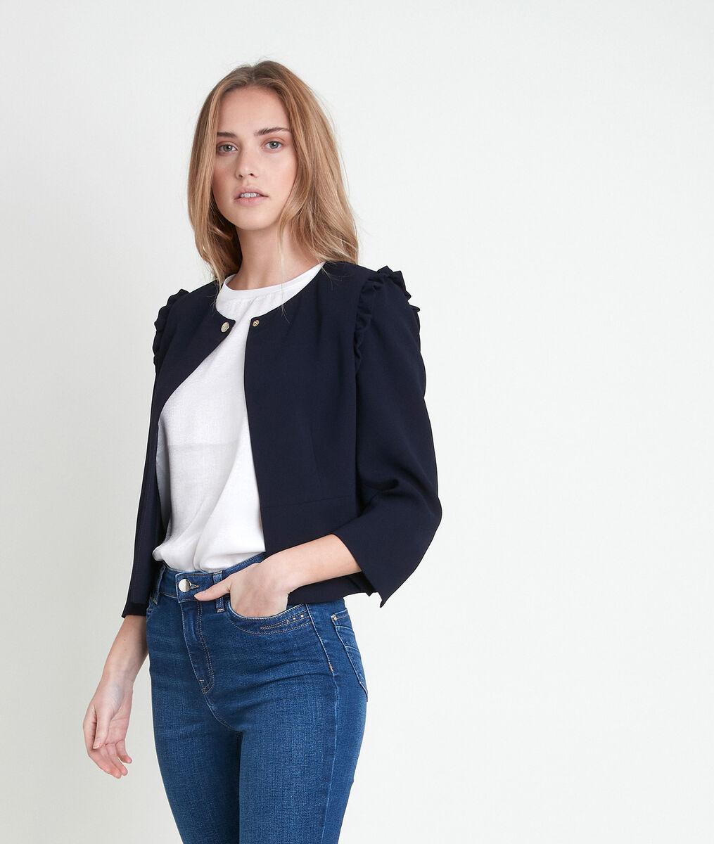 PHILISE navy crepe jacket PhotoZ | 1-2-3