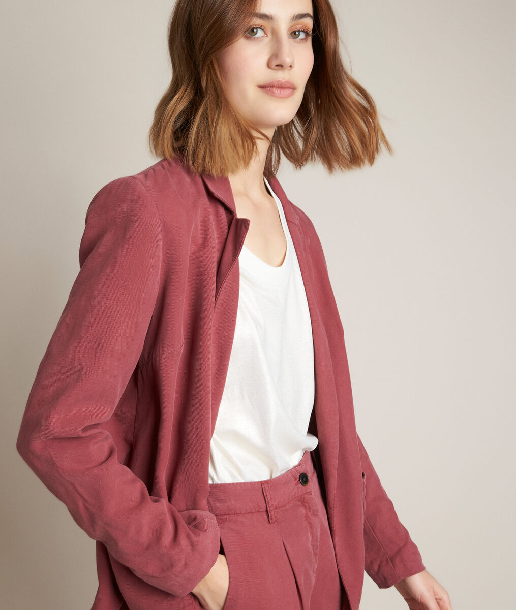 Leone flowing raspberry red jacket PhotoZ | 1-2-3