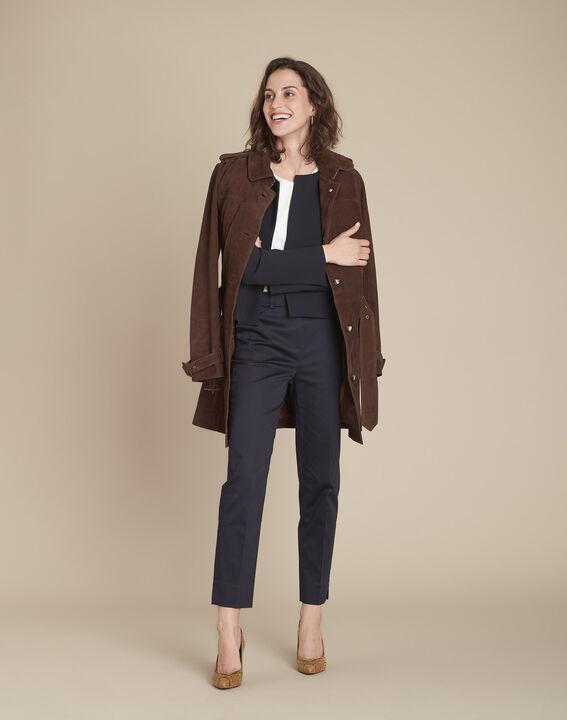 Rubis navy cigarette-cut trousers (2) - Maison 123