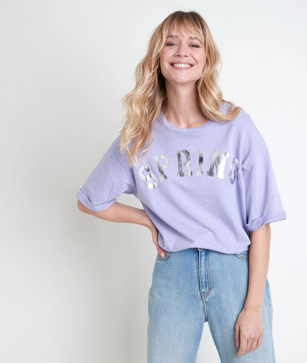 Itak mauve slogan T-shirt PhotoZ | 1-2-3