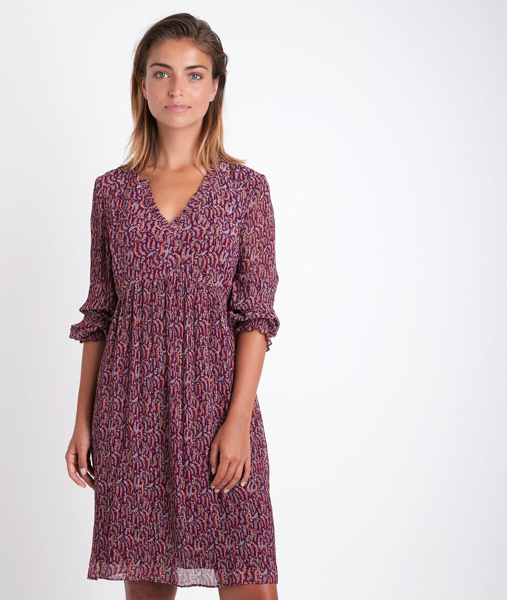 Colombe garnet printed dress PhotoZ | 1-2-3