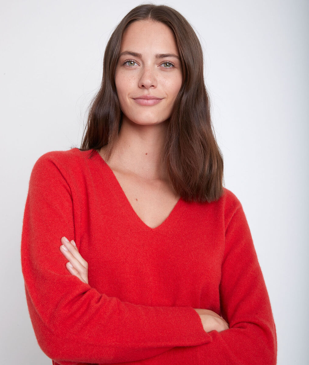 Ralph orange cashmere pullover PhotoZ | 1-2-3