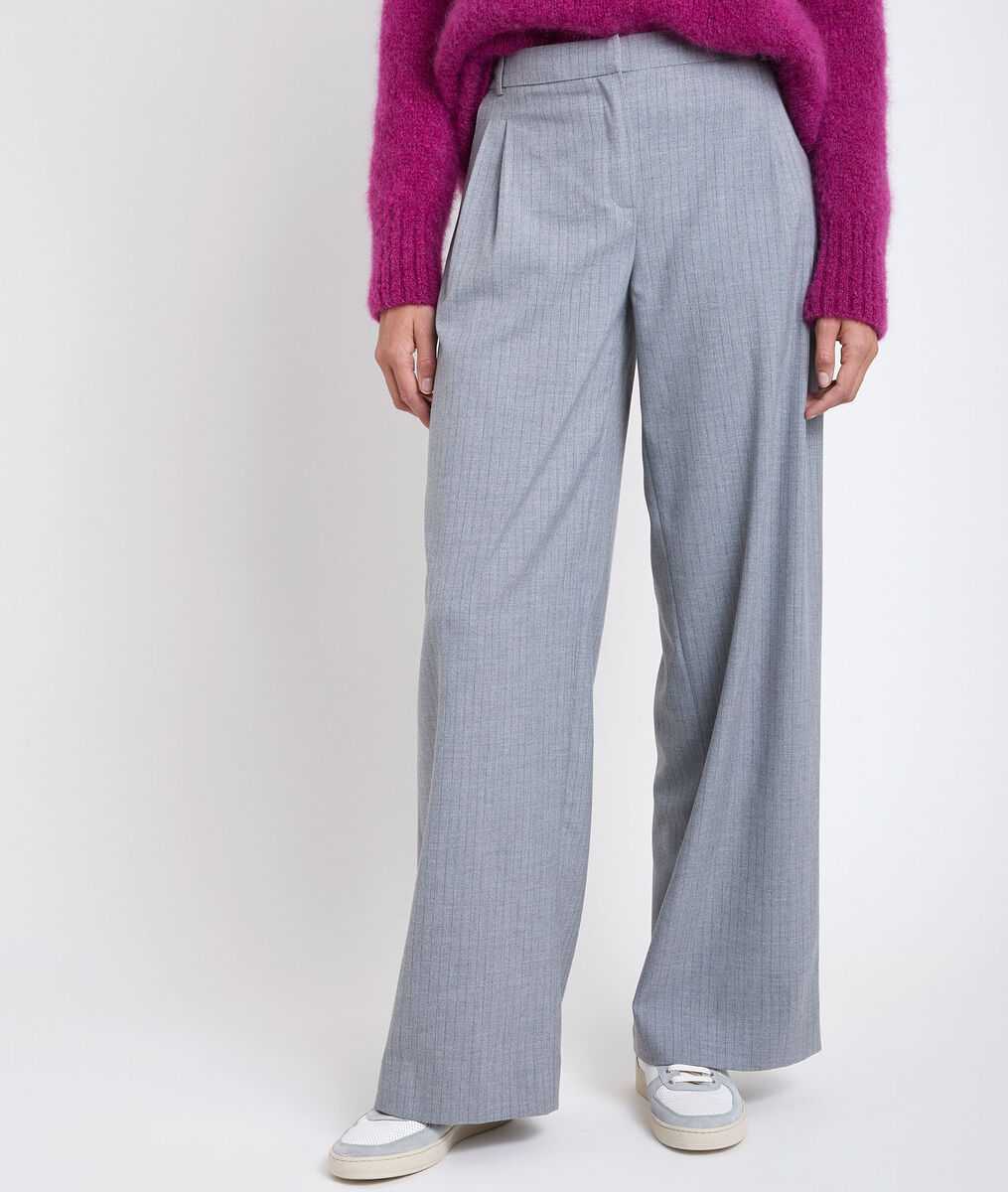Marcel wide trousers with grey stripes PhotoZ | 1-2-3