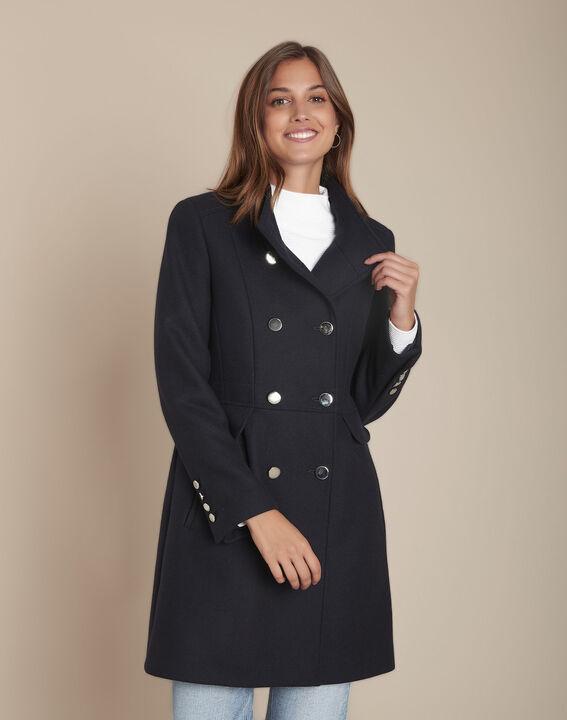 Jasmin navy double-breasted woollen coat PhotoZ   1-2-3