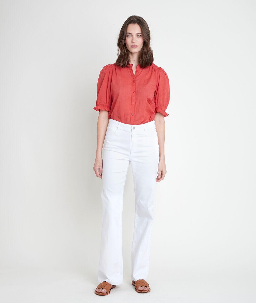 FIDJI white organic cotton wide leg jeans PhotoZ | 1-2-3