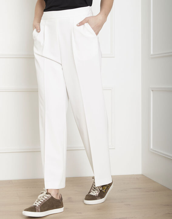 Germain white loose-fit cropped trousers PhotoZ | 1-2-3