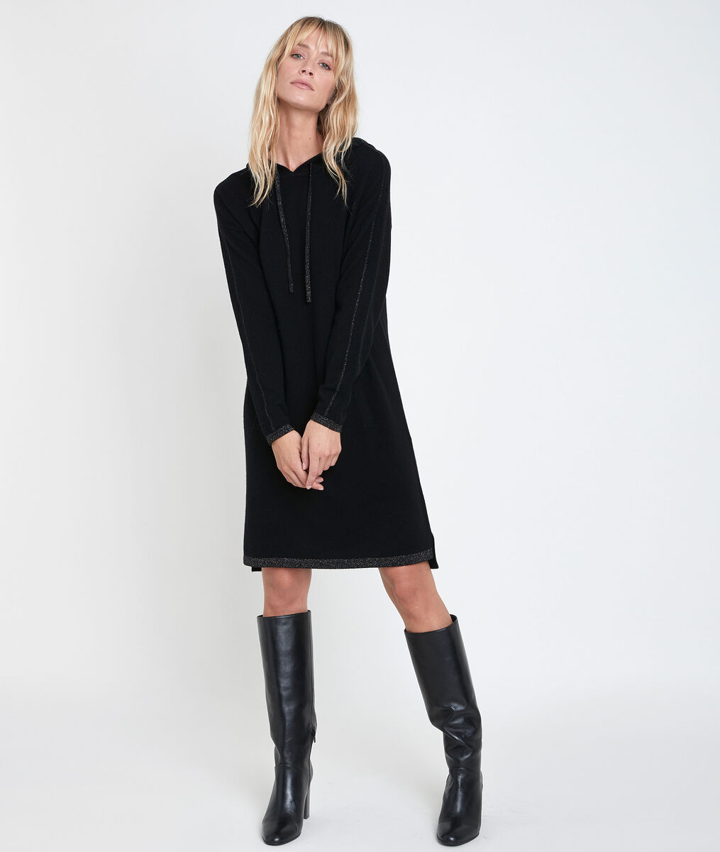 Rituel hooded cashmere dress PhotoZ | 1-2-3