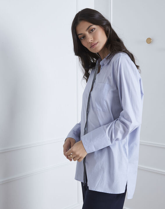 Valza blue shirt with silver details (1) - Maison 123