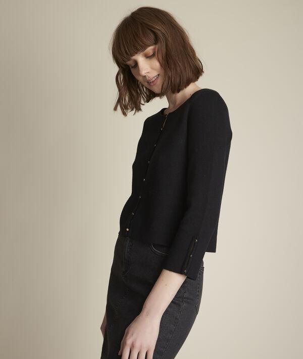 Dauphine black milano rib knit bolero PhotoZ   1-2-3