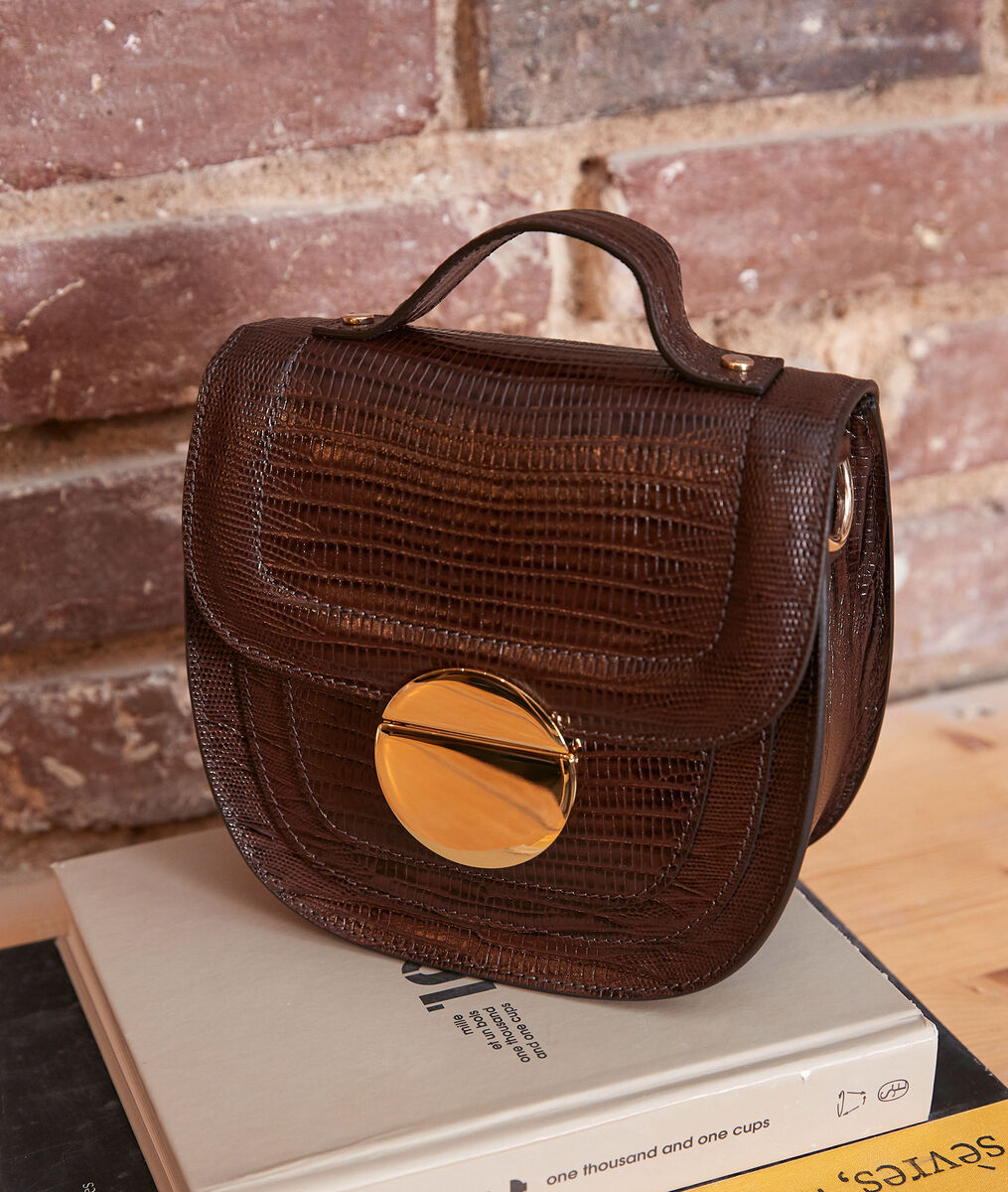 The Numéro 8 chocolate-coloured — Iconic bag PhotoZ | 1-2-3