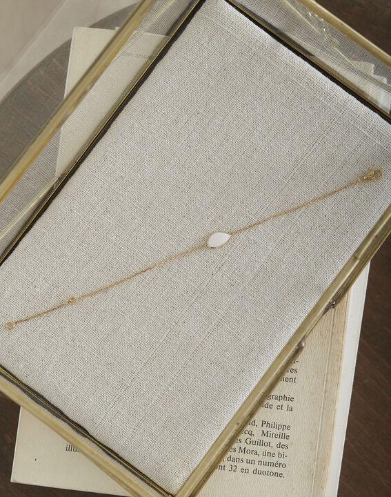 Tarsana gold bracelet with white teardrop PhotoZ | 1-2-3