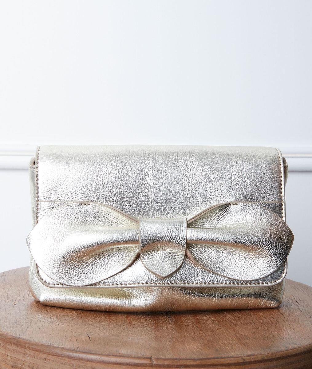 Dolly gold-coloured leather bag PhotoZ | 1-2-3