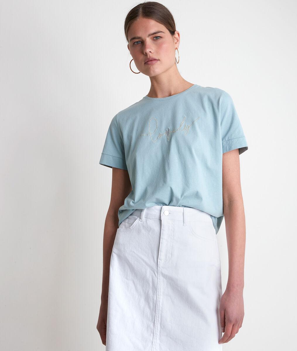 Iclaire celadon cotton T-shirt  PhotoZ | 1-2-3