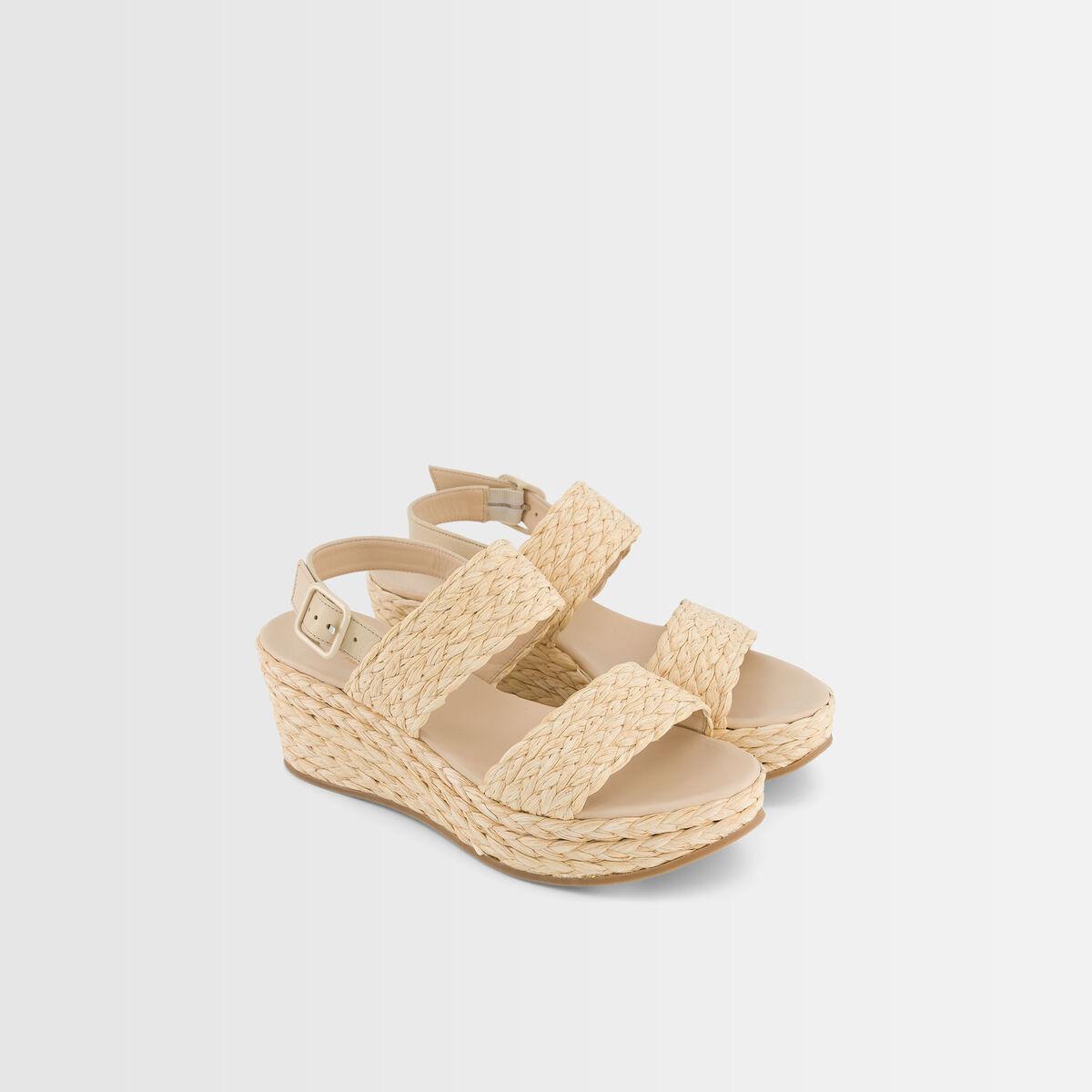 Gena raffia sandals  PhotoZ | 1-2-3
