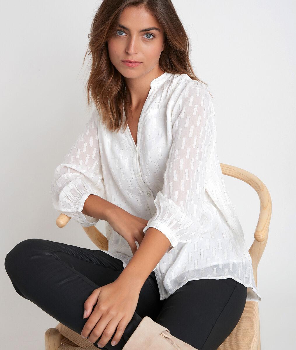 Elssie ecru lurex blouse PhotoZ | 1-2-3