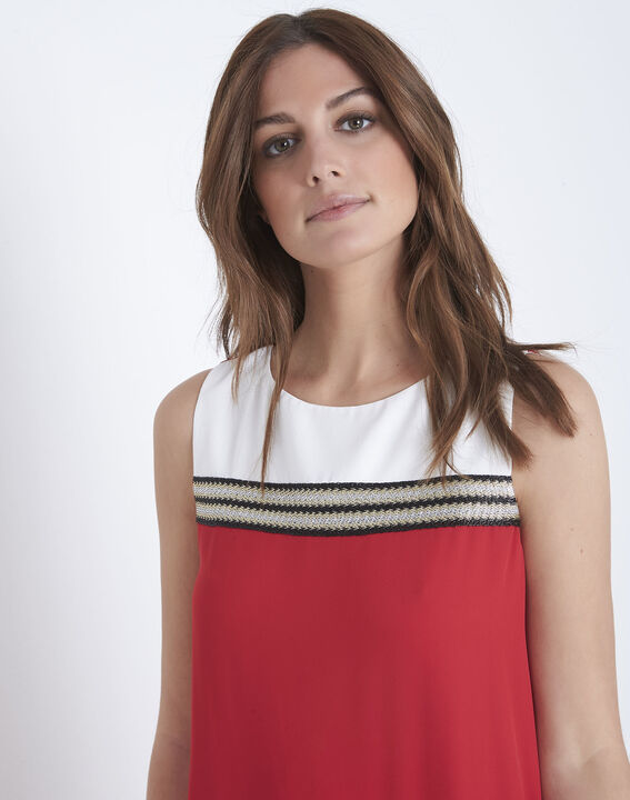 Isola red dress with lurex detailing (3) - Maison 123